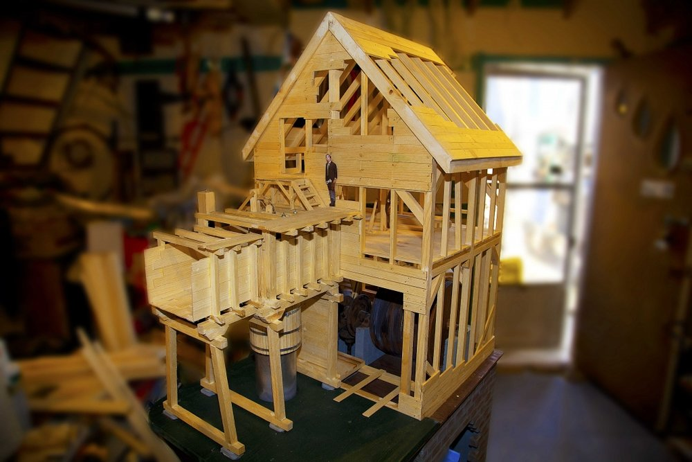 Here is a small scale model of the flume house. Visit the Fairbanks centre to see it, and to learn more!
