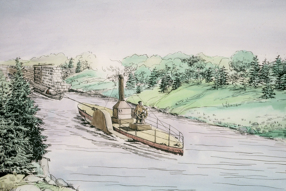 Sketch of the Avery. The Avery was the first vessel to make the complete journey from the Dartmouth Cove to Maitland.