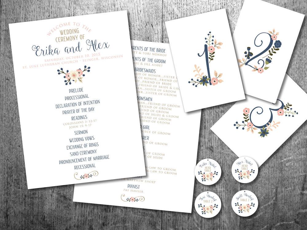 wedding branding + details