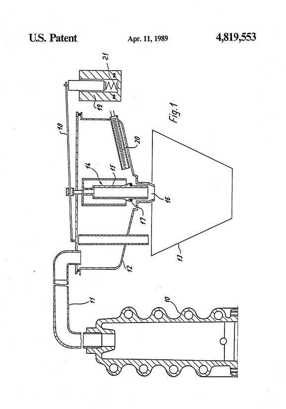 Melitta Bentz, Coffee Filter Patent Drawing