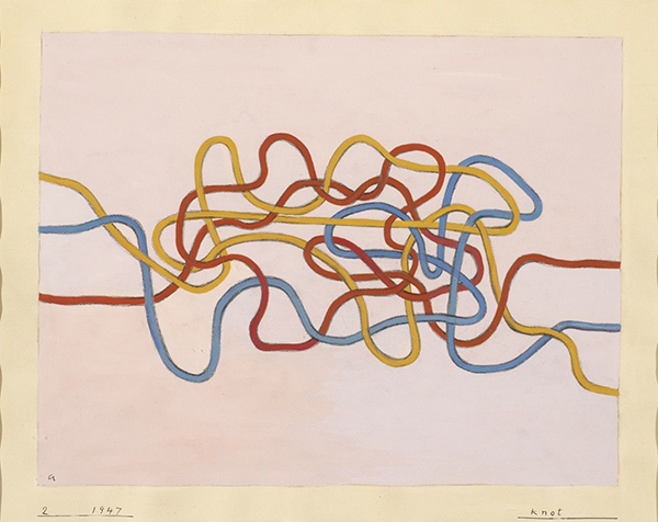 Anni Albers, Knot 2 , 1947. © 2017 The Josef and Anni Albers Foundation/Artists Rights Society (ARS), New York Photo: Tim Nighswander/ Imaging 4 Art.