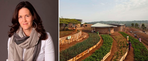 Right: The Women's Opportunity Center in Kayonza, Rwanda; images via Architizer and    Pinterest