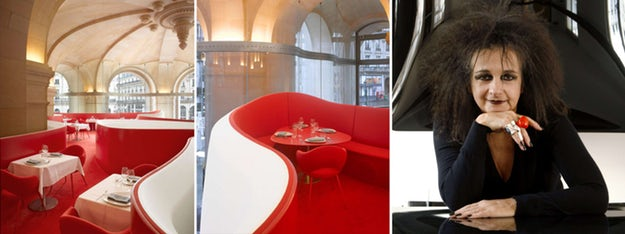 "Left: ""Phantom Restaurant, Opera Garnier,"" Paris, France; images via    Studio Odile Decq    and    dezeen"