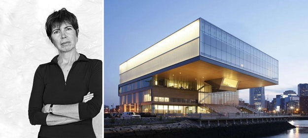 Right: The Institute of Contemporary Art overlooking Boston Harbor; images via   designboom
