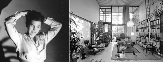 Right: the Eames House, Pacific Palisades ,  Calif.; images via    Daniella On Design    and    Living Edge