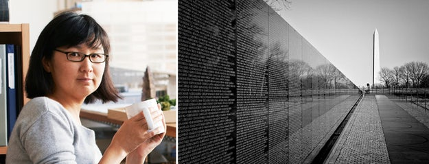 Right: Vietnam Veterans Memorial, Washington, D.C.; images via    Makers    and    Blackbutterfly7