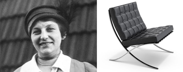 Right: The Barcelona Chair; images via    Knoll    and    Lilly Reich