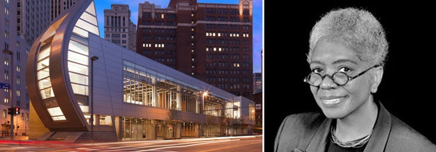 Right: August Wilson Center for African American Culture, Pittsburgh, Pa.; images via    Cultural District    and    The Khooll