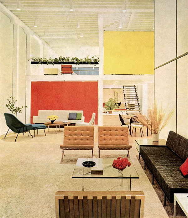 Knoll Showroom San Francisco, 1968.