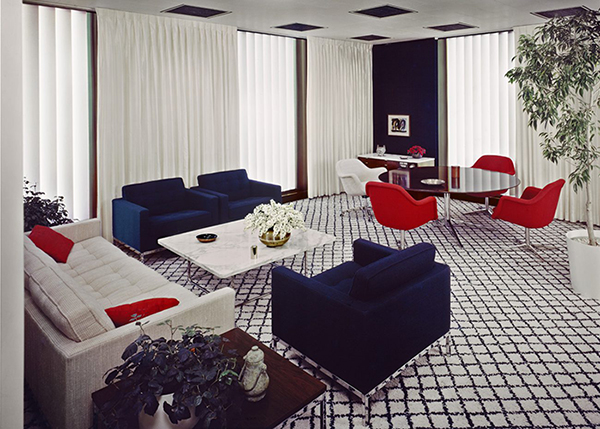 CBS Building Interior, designed by Florence Knoll Bassett