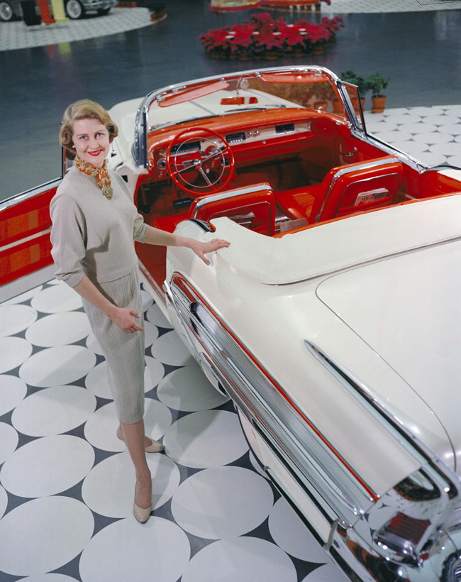 Pohlman with her exhibition-model Tampico Buick Special convertible