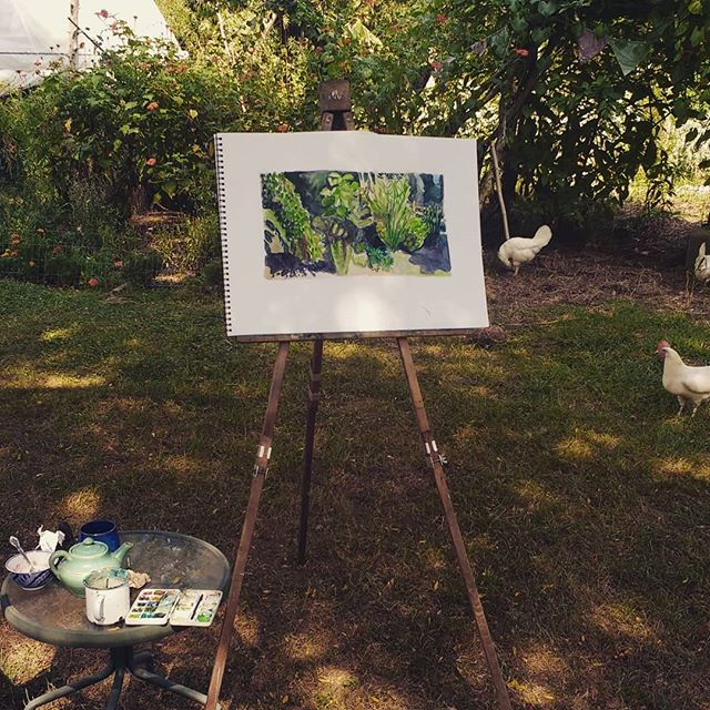Painting the garden. Breathing into this end of August day. Trusting life.