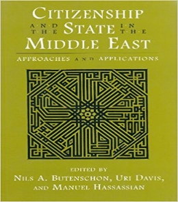 Nils August  B utenschøn, Uri Davis and Manuel Sarkis Hassassian, Citizenship and the State in the Middle East: Approaches and Applications Contemporary issues in the Middle East  (Syracuse University Press, 2000) 158.   BAX1920-1