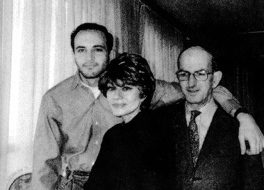 Bashir al-Daouk (Right), with his spouse Ghada al-Samman and son Hazem al-Daouk