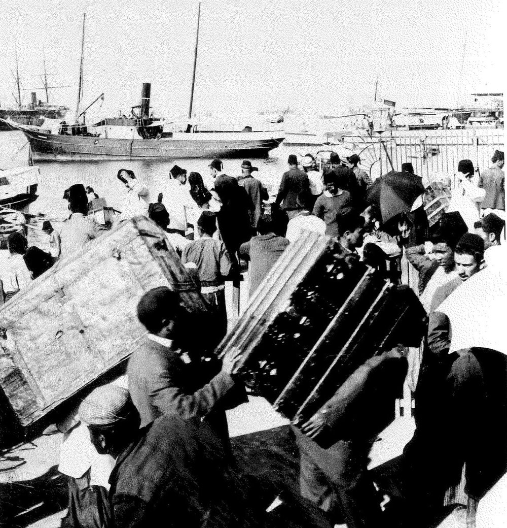 Beirut Port 1904 with people.jpg