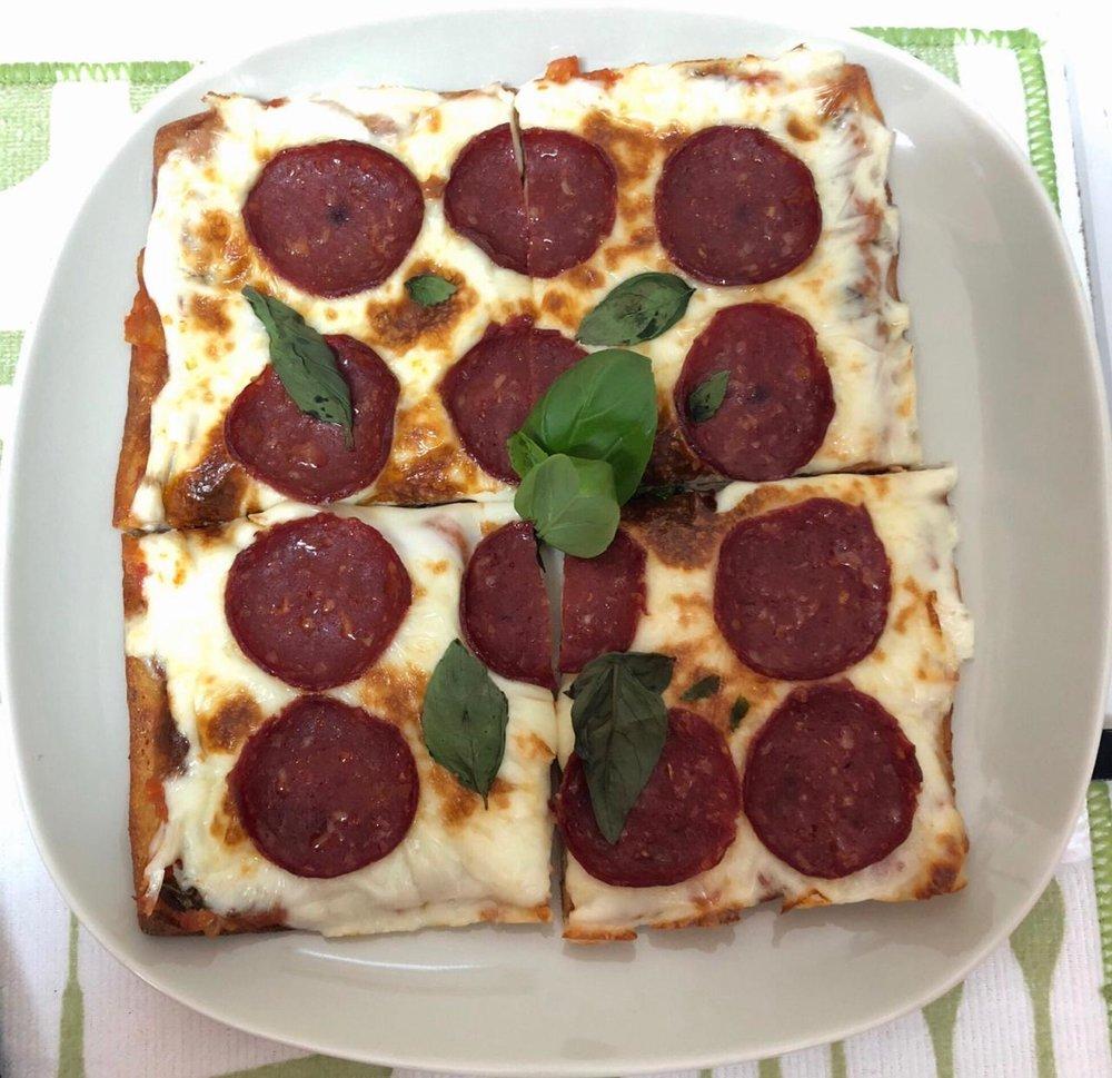Lebanese Keto Pizza with Pepperoni   R. Merhi Daouk