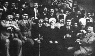 A meeting among Beirut's elite. Sheikh Mohamad's uncle in the left centre.