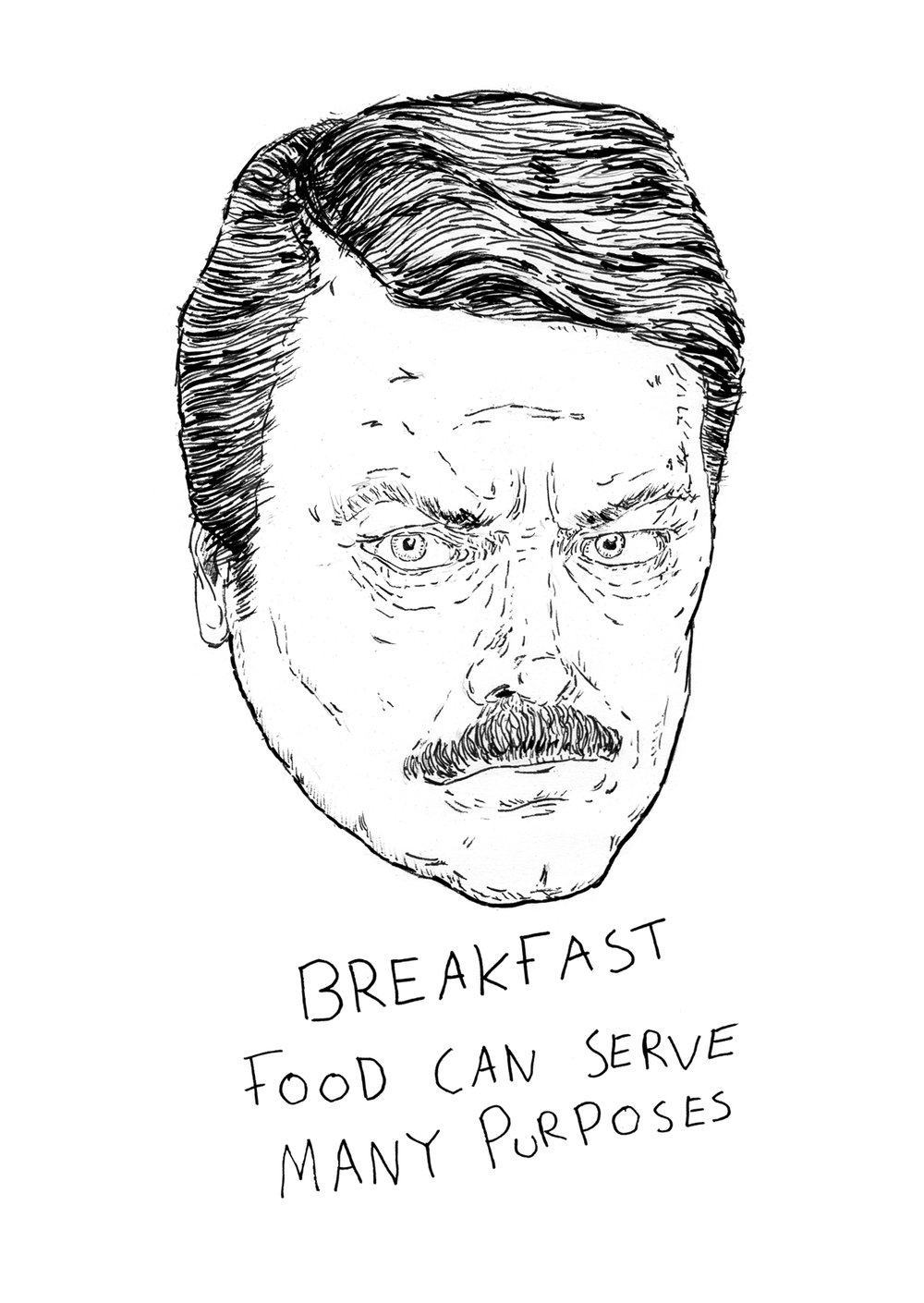 Day 19 Breakfast Ron Swanson
