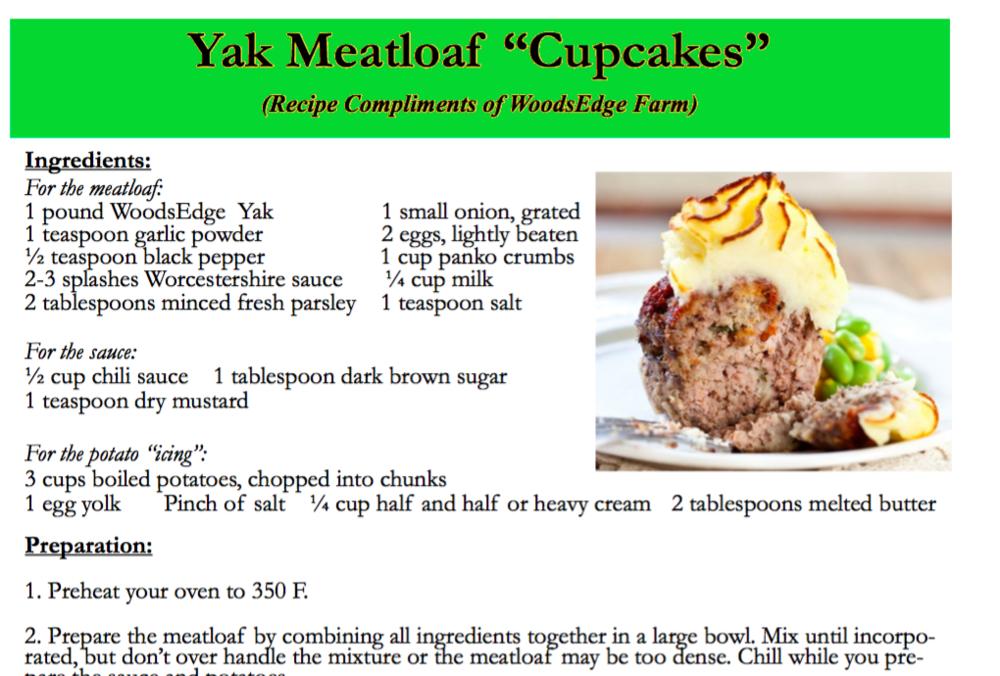 Yak Meatloaf Cupcakes