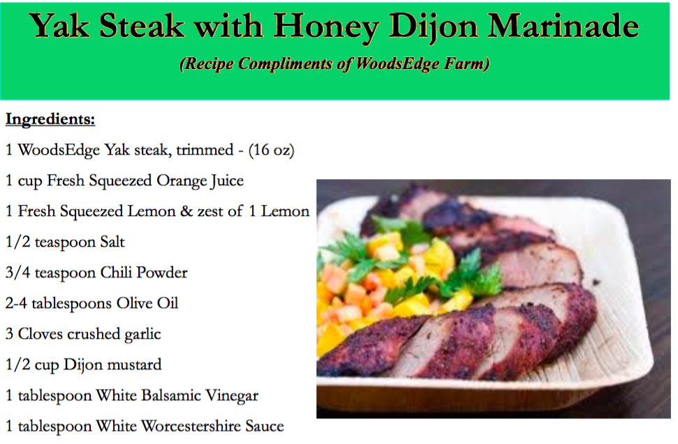 Yak Steak with Honey Dijon