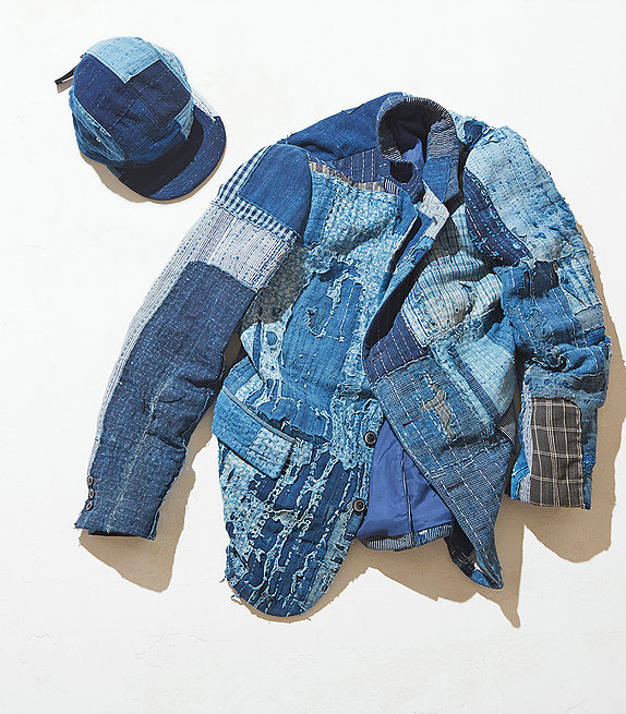 """KUON  // JP   """"BORO"""" (Japanese recycling fabric) is used to challenge the existing traditional notion on vintage clothes and revitalize it with new value."""