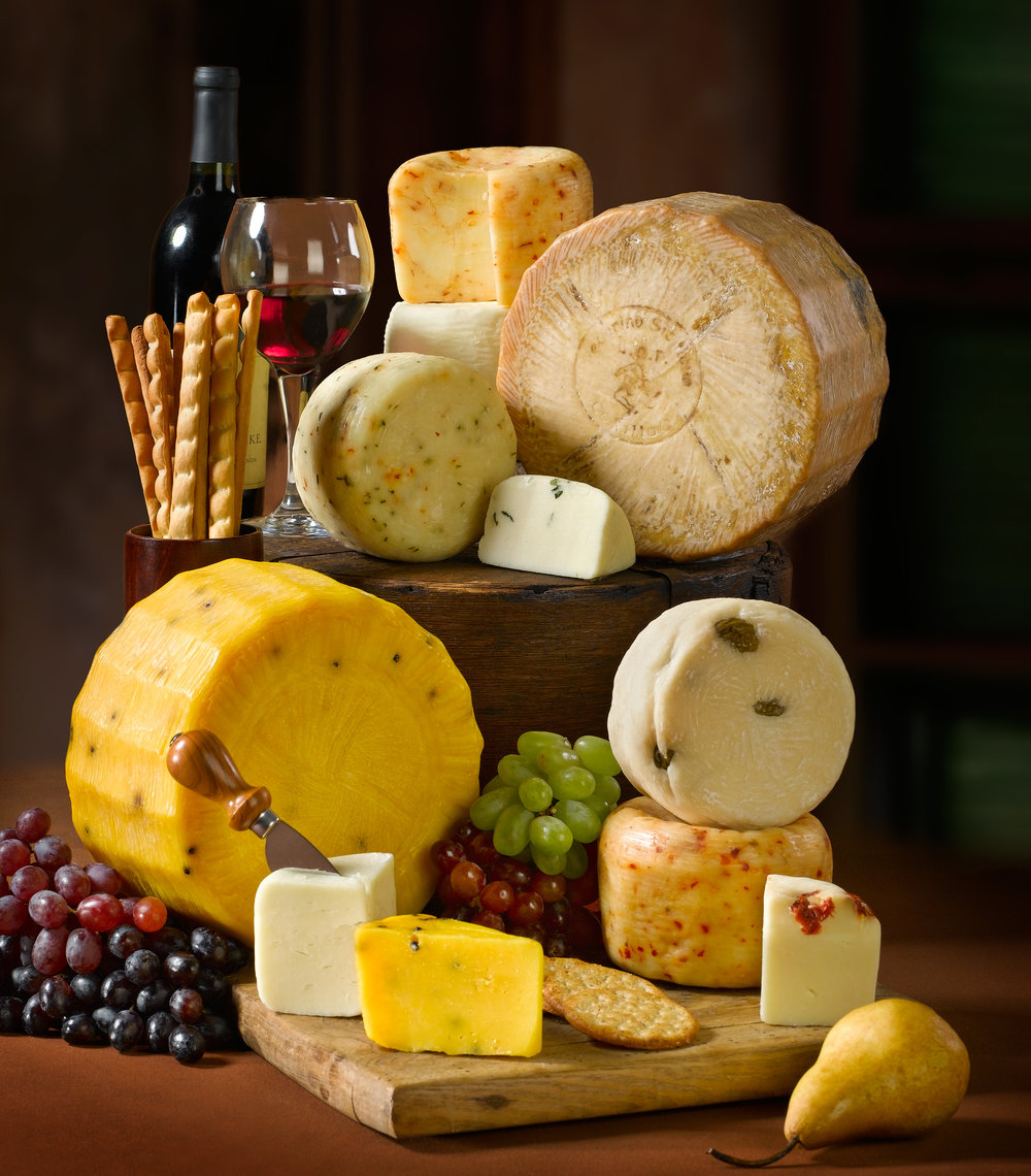 Cheese Wheel Still Life