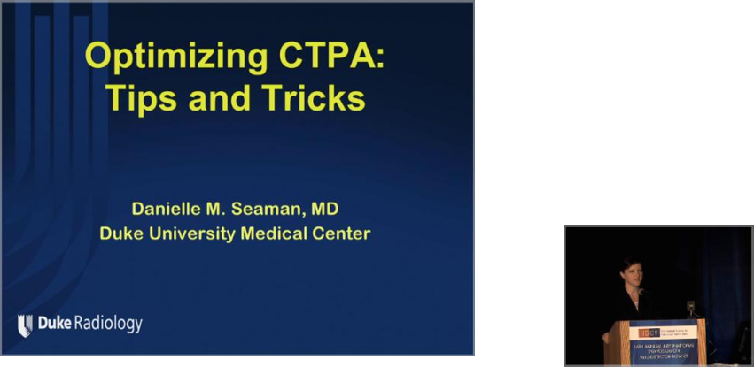 Optimizing CTPA: Tips and Tricks