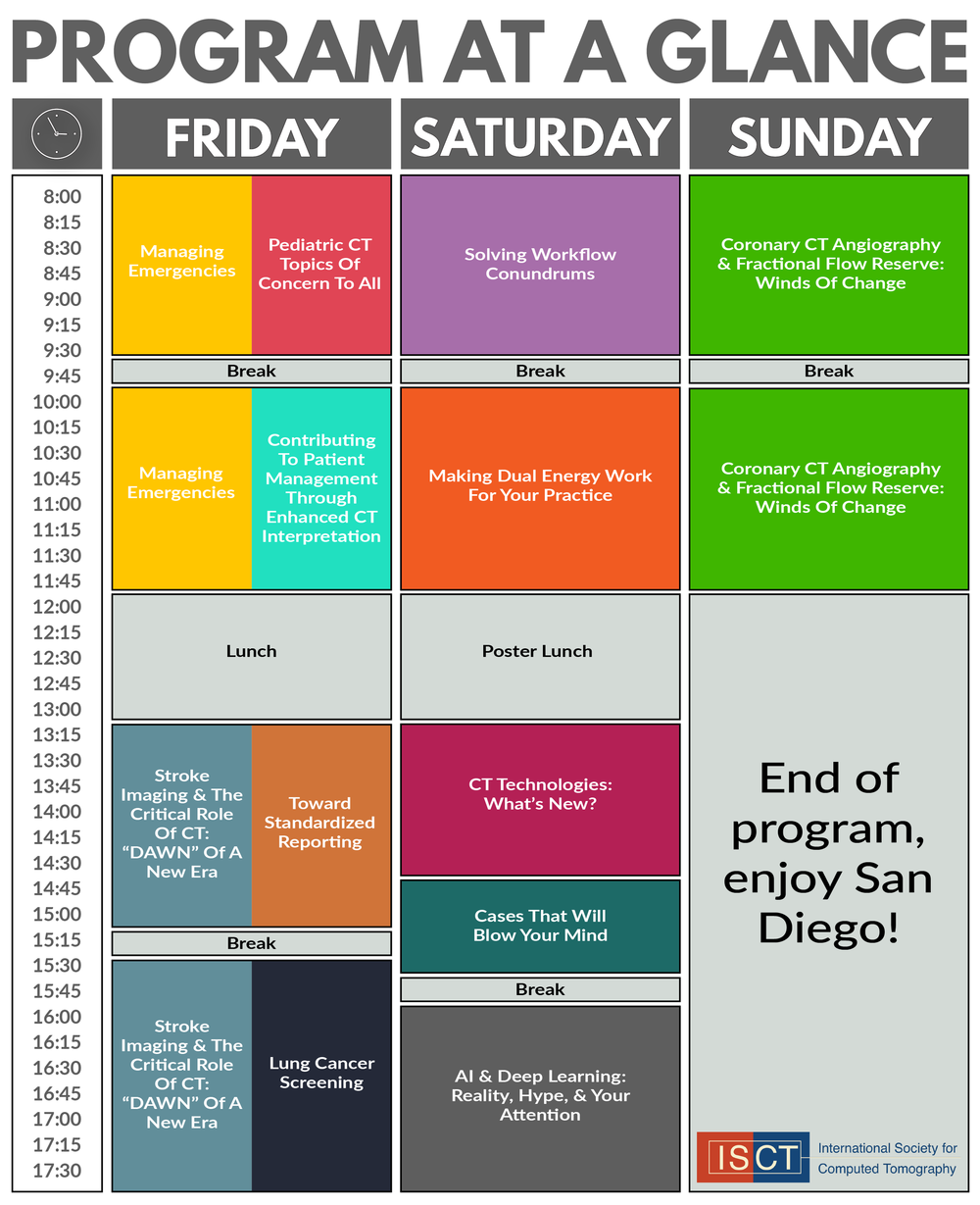 ISCT 2018 Program At A Glance