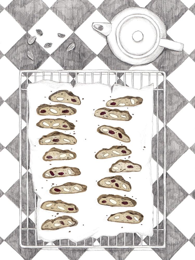 Knackige Cantuccini für jede Jahreszeit. Mit Mandeln, Pistazien oder Haselnüssen.