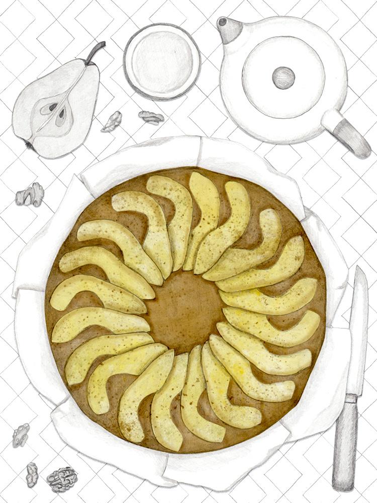 Birnen Walnuss Kuchen, Foodblog, Kuchenblog, einfache Rezepte zum Nachbacken, New Cakes On The Block