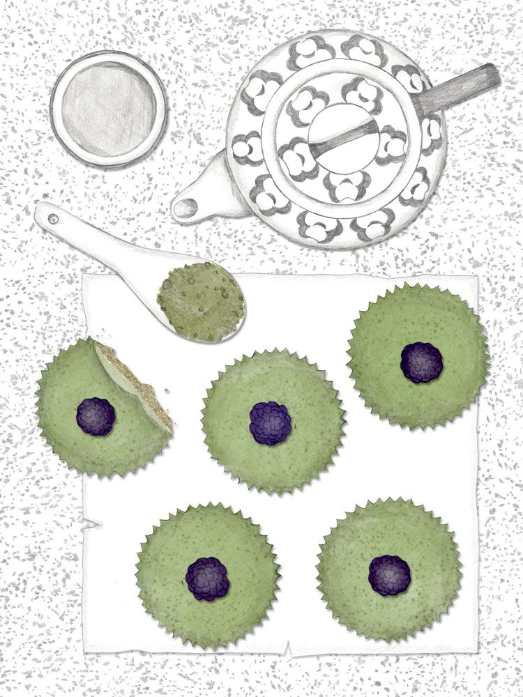 Mini Matcha Cheesecakes. New Cakes On The Block. Schnelles und einfaches Rezept.