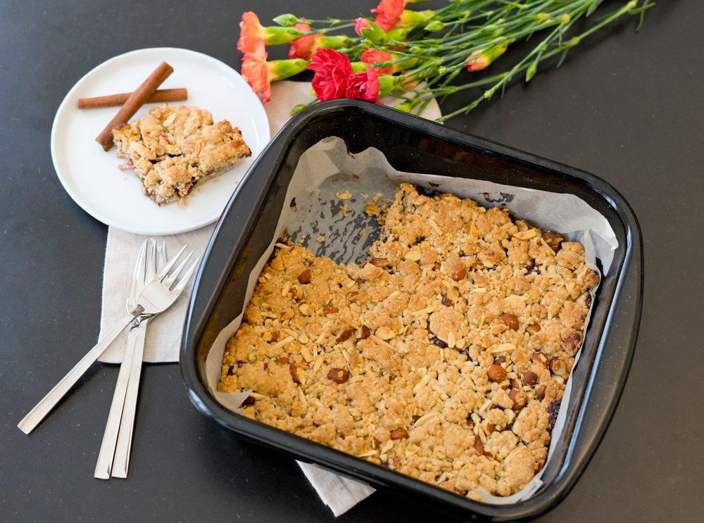 leckere Mandel-Schnitten. Foodblog