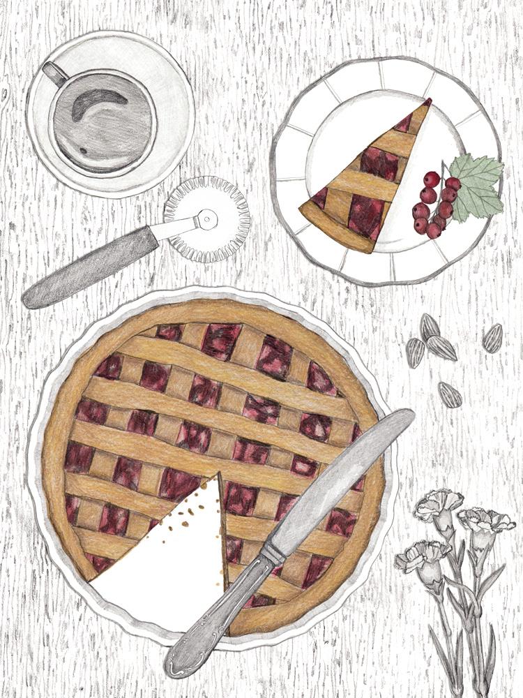 Linzertorte. Rezept zum nachbacken. Im voraus backen.Food Blog aus Wien. illustrierte Rezepte.