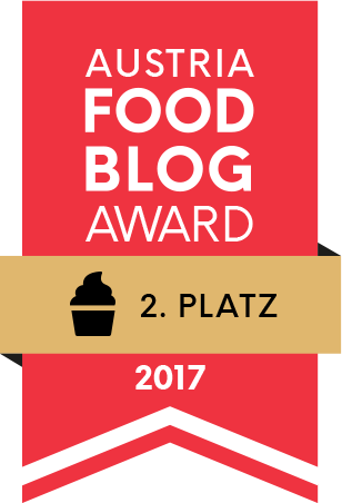 "Hurra! 2. Platz in der Kategorie ""Backen & Süsses"" beim Austria Food Blog Award!"