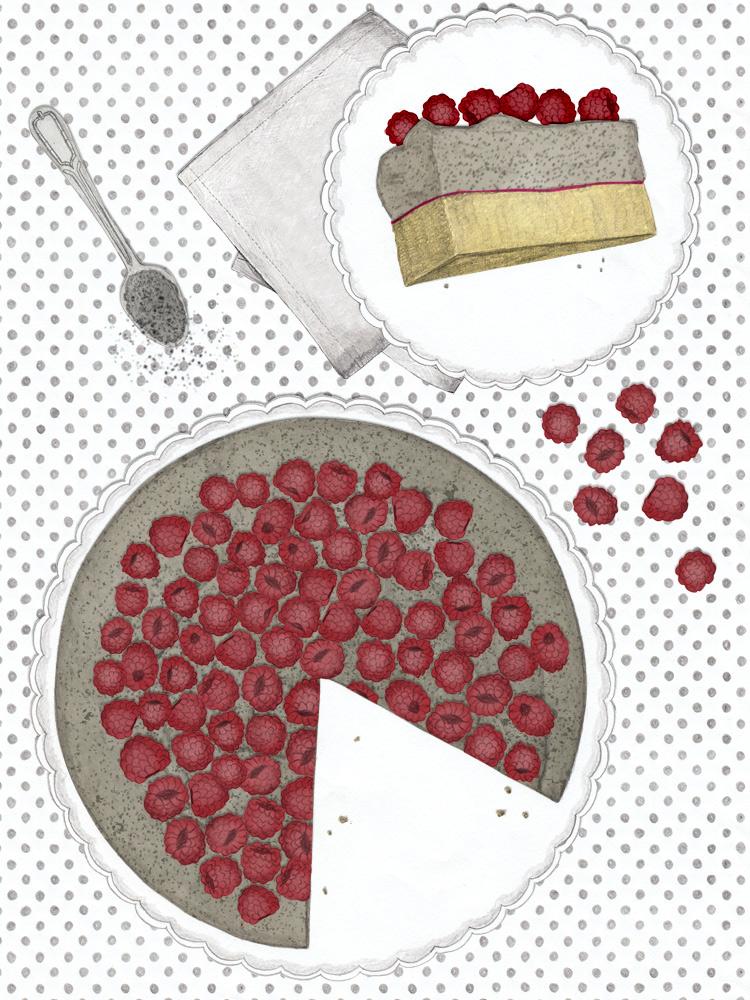 sommerlicher Mohn-Pudding Kuchen. Schnell und einfach zu machen. www.newcakesontheblock.com