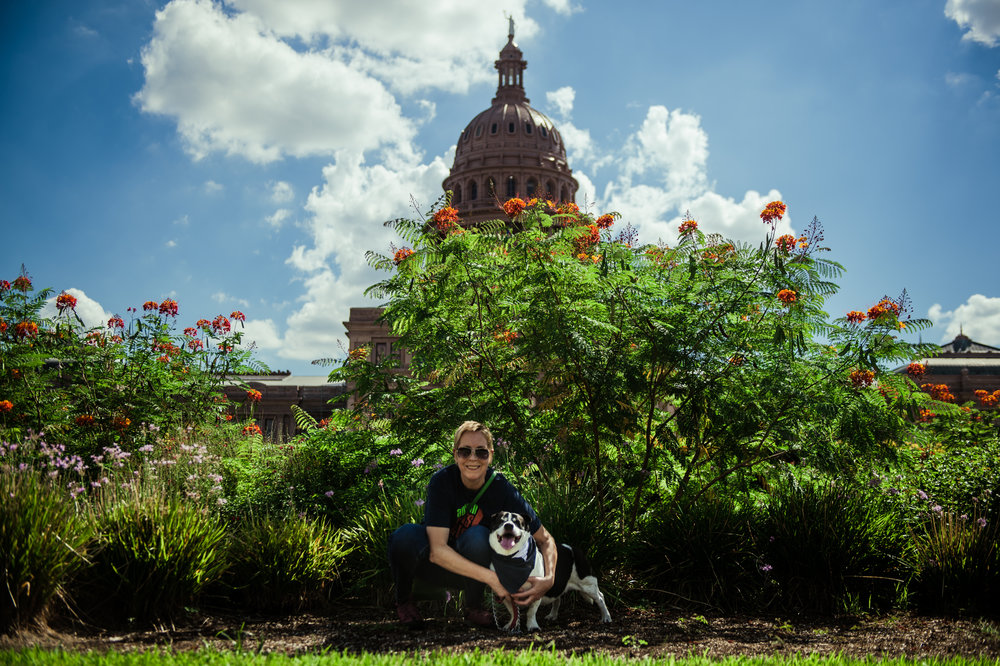 Margot and Liz at the Texas capitol.