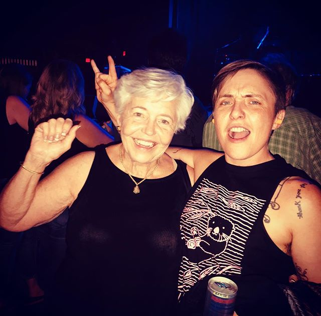 Classic hanging out at a Led Zeppelin cover band concert with your badass mama #leoseasonforever #whywasntitlezzepplin #patgoeswest
