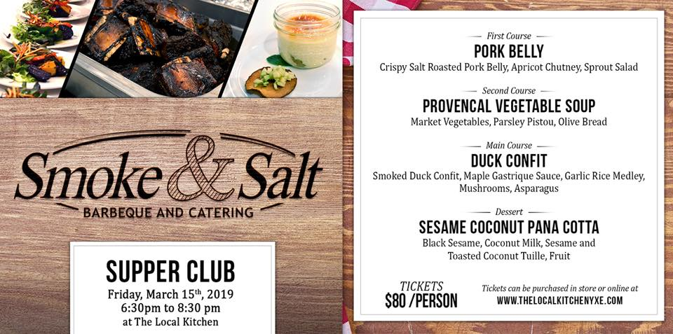 Smoke And Salt Supper Club Pop Up The Local Kitchen