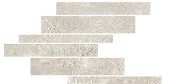 la roche Blanc naturale-anticata---strutturata modulo listello sfalsato mix 21x40 cm