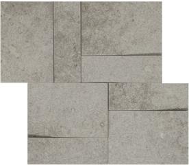 la roche Grey naturale-anticata  modulo muretto 3d inclinato 30x30 cm