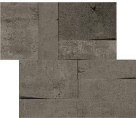 la roche Mud naturale-anticata  modulo muretto 3d inclinato 30x30 cm