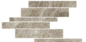 la roche Ecru naturale-anticata---strutturata  modulo listello sfalsato mix 21x40 cm