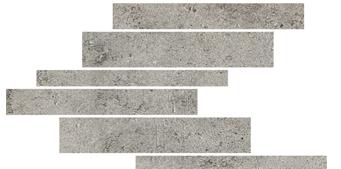 la roche Grey naturale-anticata---strutturata  modulo listello sfalsato mix 21x40 cm