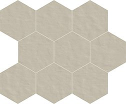 02 polvere naturale  mosaico esagono 10x10 cm
