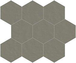 05 quarzo naturale  mosaico esagono 10x10 cm
