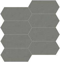06 grafite naturale  mosaico trapezio 7,5x15 cm