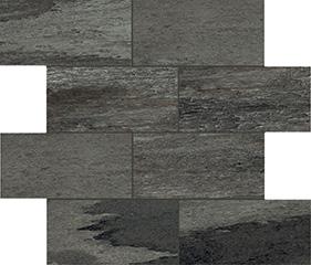 Black glossy  modulo muretto sfalsato 7,5x15 30x30 cm