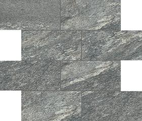 Plomb matte  modulo muretto sfalsato 7,5x15 30x30 cm