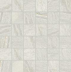 White matte  mosaico 5x5 30x30 cm