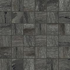 Black matte  mosaico 5x5 30x30 cm